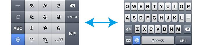 オンスクリーンキーボード切り替え方法