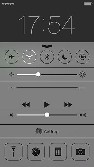 iOS7のコントロールセンター画面