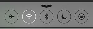 コントロールセンター画面_最上段ボタン
