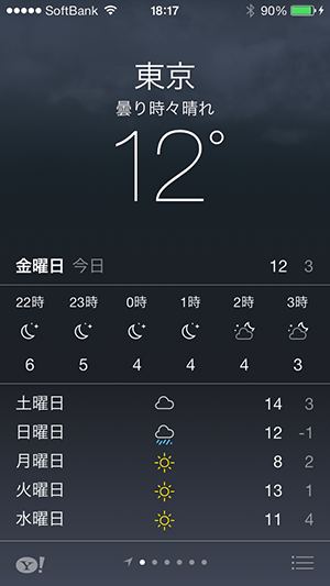 標準天気アプリ_指定都市表示形式