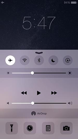 iPhone6_機内モードのオンオフ