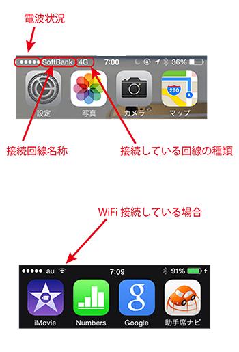 ios8ステータスバーアイコン_携帯回線