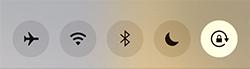 コントロールセンター画面の画面ロック-オン表示