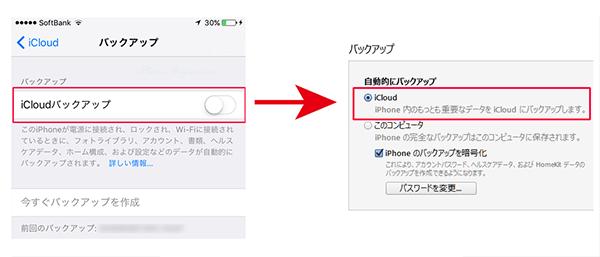 icould設定を変更するとiTunes設定は自動変更される