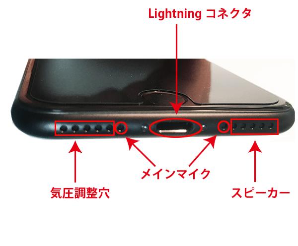 iphone7下部側面画像