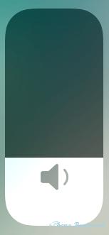 iOS11_コントロールセンター画面_音量調整操作アイコン