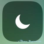 iOS11_コントロールセンター画面_おやすみモード操作アイコン