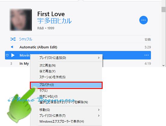 iTunes_ミュージックライブラリ_曲ごとのアートワークプロパティ