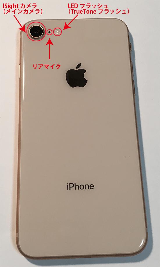 iphone8裏面各部名称