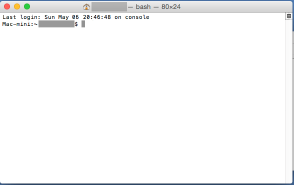Macパソコン_ターミナル入力画面