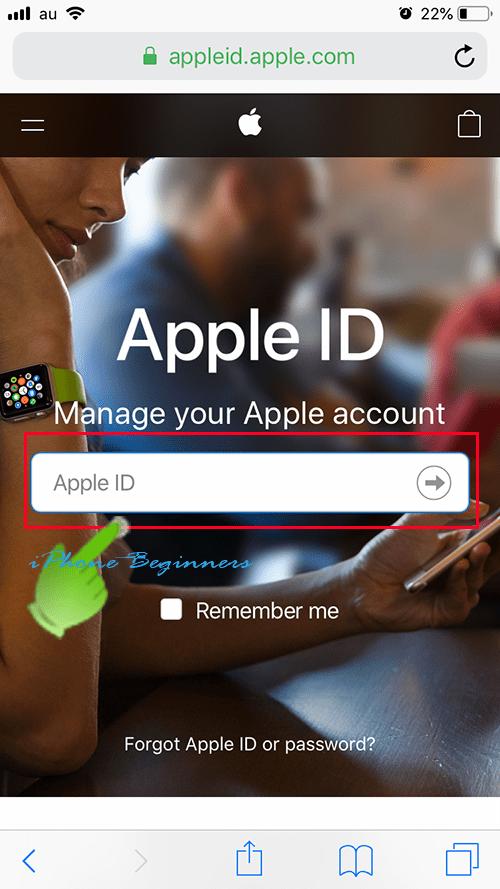 AppleID復旧後サインイン画面