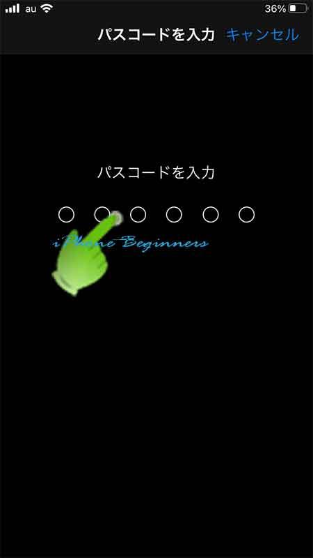 TouchID設定画面_パスコード入力が面