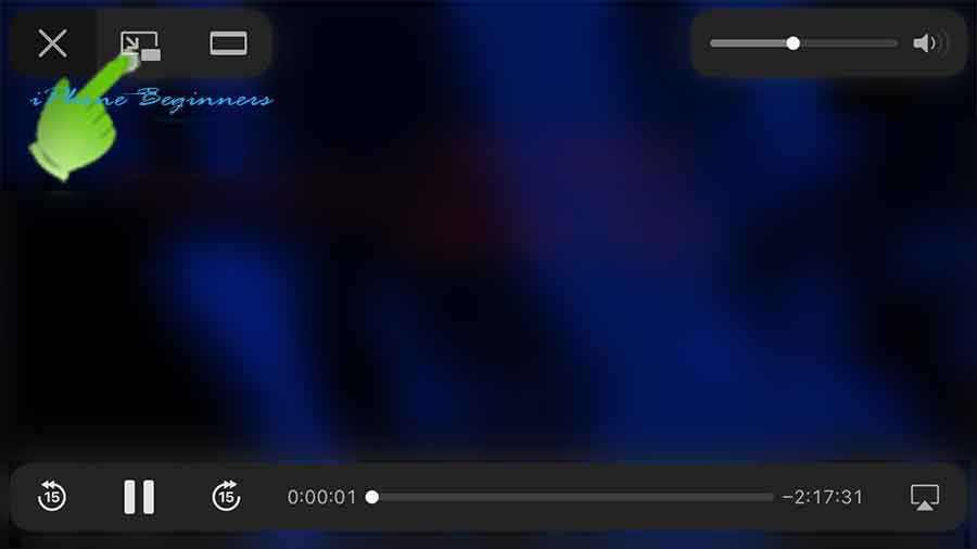 iPhone_AppleTVアプリ_ピクチャインピクチャアイコン_ランドスケープモード