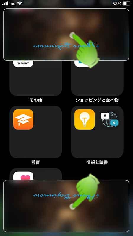 iphone_ポートレート表示_ピクチャインピクチャ上下