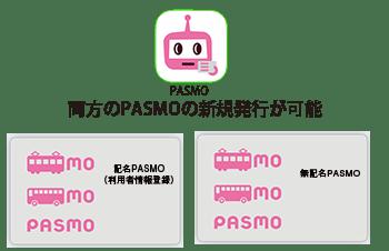 pasmoアプリは記名無記名両方新規発行可能